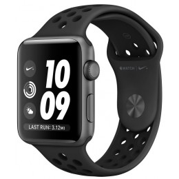 Apple Watch Nike+ 38mm Space Gray with Black Nike Sport Band (MQ162)
