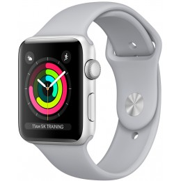 Apple Watch Series 3 42mm Silver Aluminum Case with Fog Sport Band (MQL02)
