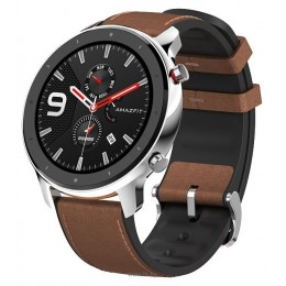 Умные часы Amazfit GTR 47mm stainless steel case, leather strap
