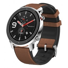 Умные часы Amazfit GTR 47mm aluminium case, leather strap